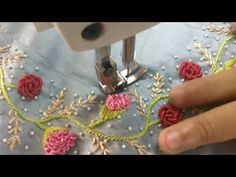 Hand Embroidery For Beginners Hand Embroidery : Ring Knot Embroidery Hand Embroidery Videos, Hand Embroidery Flowers, Hand Embroidery Stitches, Embroidery For Beginners, Hand Embroidery Designs, Embroidery Kits, Ribbon Embroidery, Machine Embroidery, French Knot Stitch