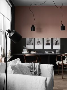 Black and dusty pink - via cocolapinedesign.com