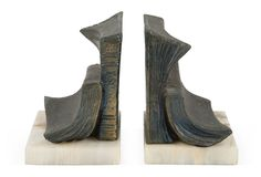 Bronze & Marble Bookends, Pair  $189.00