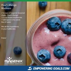 peach-mango-madness Lisa Stevenson will show you how to use your Isagenix Products to create amazing Isagenix shakes and other Isagenix recipes to tempt your taste buds and help you achieve your weight loss goals
