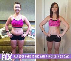 "Aly B. was healing from a surgery, was overweight and felt emotionally drained. She tried 21 Day Fix, and lost 10.8 pounds and 7 inches in just 21 days! She said, ""It was simple, no counting or guessing. My favorite part was that I didn't have to weigh my food."" http://www.onesteptoweightloss.com/21-day-fix-workout-review #15LBWeightLoss"