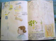 sketch book pages