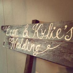 #Rustic #wedding #sign