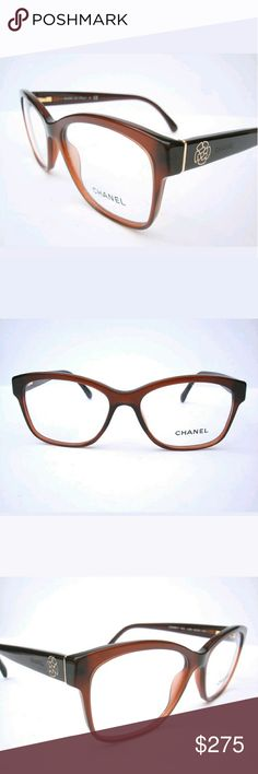 Chanel Eyeglasses New and authentic  Chanel Eyeglasses  Brown frame  Size 54-16-140  Includes Chanel case only Chanel  Accessories Glasses