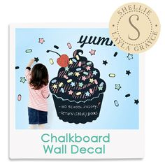 Shellie's Fave! Cupcake Chalkboard Wall Decal from @LaylaGrayce #laylagrayce #lgstaff #children