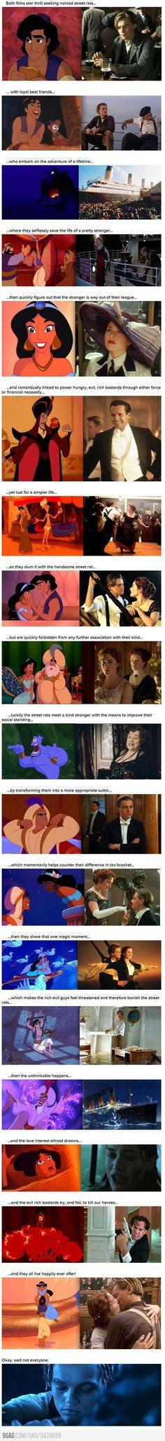 Aladdin vs. Titanic Haha omg read the whole thing