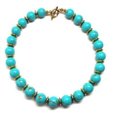 Chunky Turquoise Beach Necklace | Only available at Peyton William. www.peytonwilliam.com