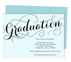 Graduation Hat Personalized Party Invitation  Invitations