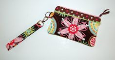 Carnival Bloom and Polka Dots  Double Zipper Wristlet Purse by RKEMdesigns, $21.95