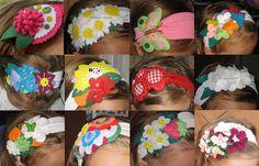 Cositas para Victoria: DIADEMAS, VARIAS TÉCNICAS (Crochet, fieltro, tela,...