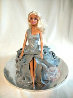 """""""Silver"""" Doll Cake by LuLu of Sweet Endings( instructions by Ipoh Bakery)"""