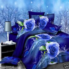 2015 New 4 Pcs 3D Brushed Printed Duvet Cover Quilt Cover Bedding Set Queen Size