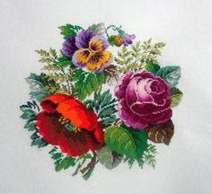 (26) Gallery.ru / Роза, мак и фиалка - Вышивка по старинным схемам - Maarinna