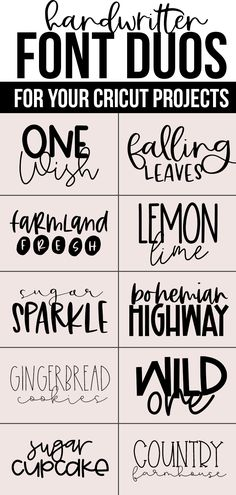 Free Pretty Fonts For Cricut Best Cricut Access FontsBest script fonts in Cricut Design Space - plus a printable cheat sheet to save for later! cricut designspace cricutfontsHandwritten FONT DUOS Free Pretty Fonts For Cricut Polices Cricut, Illustration Vector, Illustrations, Adobe Indesign, Hand Lettering Fonts, Script Writing Fonts, Free Handwritten Script Fonts, Best Script Fonts, Types Of Lettering