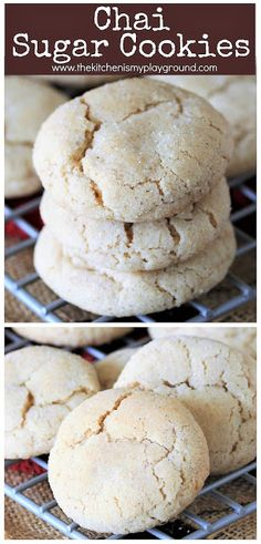 cinnamon sugar cookies Chai Sugar Cookies ~ Chai lovers, these cookies are for you! Because all that wondefully rich, warm, aromatic spice of a chai tea latte is absolutely fabulous in sugar cookie form, too. Butter Sugar Cookies, Cinnamon Sugar Cookies, Rolled Sugar Cookies, Tea Cookies, Spice Cookies, Almond Cookies, Yummy Cookies, Cookies Et Biscuits, Amazing Cookie Recipes
