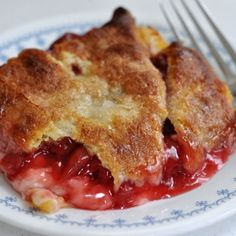 Cherry Cheese Cobbler...still need to try it but other comments suggest baking the crust a few minutes before adding the other ingredients and the top crust.  http://pinterest.com/pin/create/button/?url=http://southernplate.ziplist.com/recipes/314879-Easy_Peasy_Cherry_Cheese_Cobbler&media=http://s3.amazonaws.com/images.ziplist.com/images/2411311/03e5ee38dabeffa9c23fd8b623402bc0_large_square.jpg#