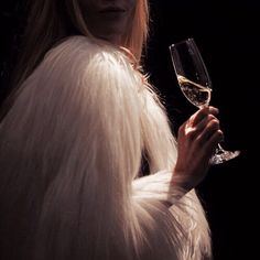 champagne, classy, and fur image