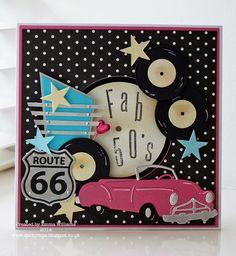 That's Life: Fab 50's #card #jenlong #sizzix