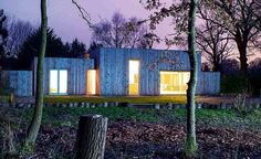 Christian Bonard's new larch-clad, steel frame home – which replaces a dilapidated bungalow – is a welcome addition to its wooded site in Surrey