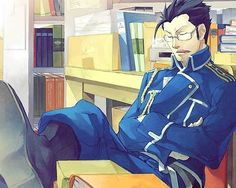Hughes is my favorite character from Full Metal Alchemist. He has no alchemy powers but he still rocks!