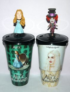 Cup Topper Figures Alice in Wonderland Mad Hatter Collectible Movie Cups | eBay