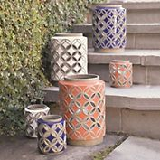 Decorative vases for outdoor stairs