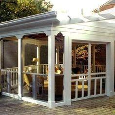 back deck porch designs - google search | porches | pinterest ... - Screen Patio Ideas