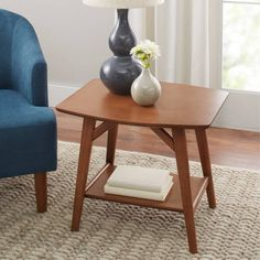 Better Homes & Gardens Reed Mid Century Modern Side Table, Pecan Modern Sofa Table, Modern Console Tables, Modern Coffee Tables, Mid Century Modern Side Table, Mid Century Modern Sofa, Mid Century Modern Design, Living Room Furniture, Modern Furniture, Affordable Furniture