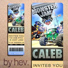 MONSTER JAM Monster Truck Personalized DIY Birthday by byhev, $15.00
