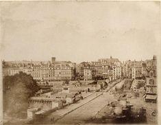 1852 Paris, le pont Neuf en travaux Humbert de Molard Louis Adolphe