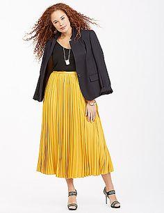 Lane Bryant Pleated Maxi Skirt