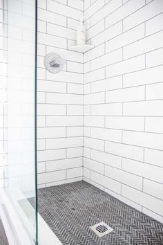With limited space in some bathrooms, a shower renovation can make a space feel large. Kevin O'Gara shows how refreshing tile can still make a& The post Classic Tile Style for a Walk-In Shower Renovation appeared first on Summer-Louise Home DIY. Master Bathroom Shower, Upstairs Bathrooms, Small Bathroom, Bathroom Ideas, Best Tiles For Bathroom, Bathroom Remodeling, Tiled Walls In Bathroom, Wall Tiles, Bathroom Tile Showers