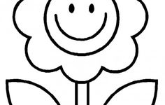 Simple Flower Coloring Pages For Kindergarden