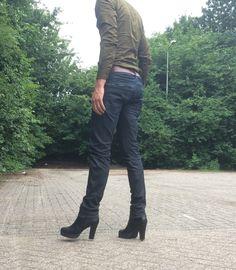 Men high heel boots