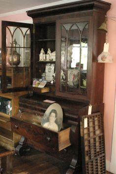 Antique Tiger Oak Empire Sideboard Buffet Server My Best