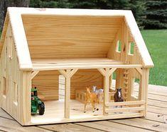 Items similar to Custom Wood Barn Door Baby Gate on Etsy Barn Door Baby Gate, Toy Barn, Wooden Barn, Build A Playhouse, Popsicle Stick Crafts, Kids Wood, Diy Dollhouse, Wood Toys, Diy Toys