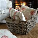 deep wicker basket,