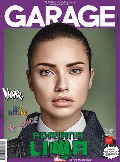 Adriana Lima como She Hulk para Garage Magazine Spring 2016.