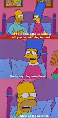 Find the funniest pictures, gifs and videos from The Simpsons family. Everything from Homer Simpsons crazy projects to Bart Simpsons funny pranks in school. Simpsons Funny Quotes, Funny Memes, Jokes, Funny Cute, The Funny, Hilarious, Los Simsons, Shopping Humor, The Simpsons