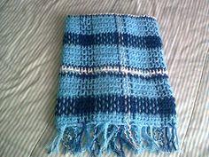 . . . . . . . . . CAT CROCHET . . .: Manta Escocesa Azul - PAP - Passo-a-passo!