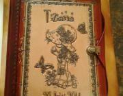 Cuaderno con Tapas de Cuero Piel de ResGrabado en Relieve Personalizado en Ta...