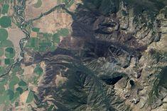 Pine Creek Fire Burn Scar : Natural Hazards : NASA Earth Observatory