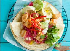 Mexican style chicken wraps
