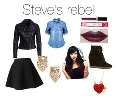 """""""The outsiders Steve"""" by iheartanime74 on Polyvore featuring New Look, Mint Velvet, Kate Spade and MSGM"""