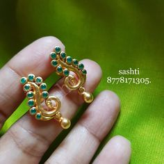 Pure silver jewellery with gold polish . Beautiful silver earrings with peacok design.whats app 30 November 2018 Gold Jhumka Earrings, Indian Jewelry Earrings, Gold Earrings Designs, Gold Jewellery Design, Silver Jewelry, Silver Ring, Hippie Jewelry, Jewelry Box, Gold Necklace