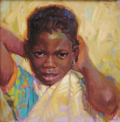 """Daily Paintworks - """"To Such As These: Lomwe of Mozambique"""" - Original Fine Art for Sale - © Cecile W. Morgan"""