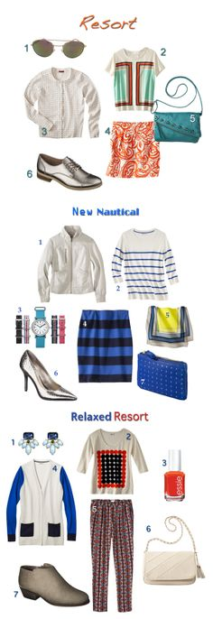 3 ways to wear the nautical resort trend for winter/spring 2014 on Fashion Trend Guide #TargetStyle