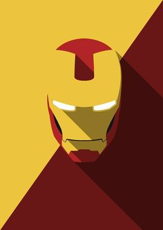 Yousuf Khan J - Minimal Heads Iron Man  SWEET minimalistic Heroes.  Very awesome.  Desktop-wallpaper-worthy!