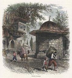 Turkey, Istanbul, Turkish Fountain, 1875