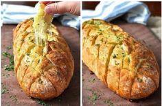 Хрустящий хлебушек с чесноком и сыром » Женский Мир